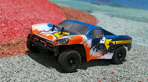 1/24 Torment 4WD Short Course Truck RTR, Black/Orange (ECX00014T1)