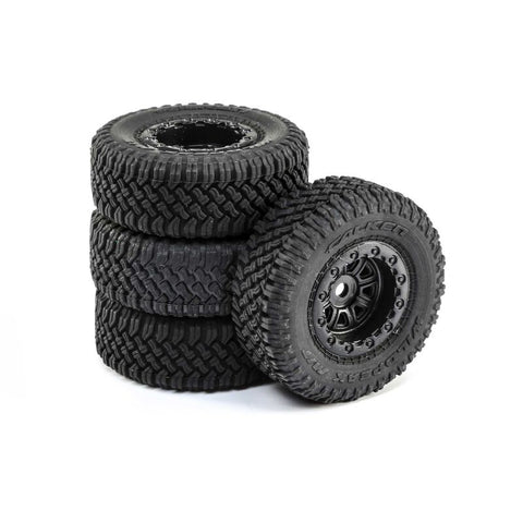 Premount Tires (4): 1/24 Barrage