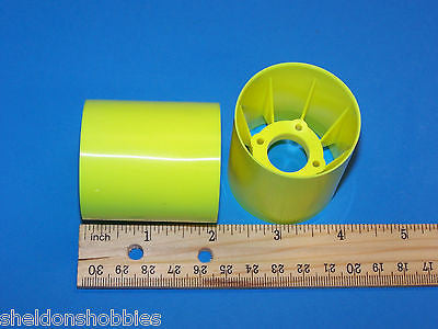 TEAM ASSOCIATED (RC10L SERIES) REAR WHEELS, FLUORSCENT YELLOW #8150Y