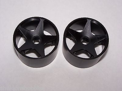 HPI 1/10 SUPER STAR FRONT ON ROAD RIMS (BLACK) #3502