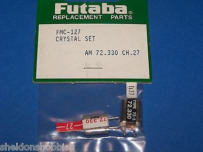 FUTABA (AM 72.330) TX/RX CRYSTAL SET CHANNEL 27 #FMC-127