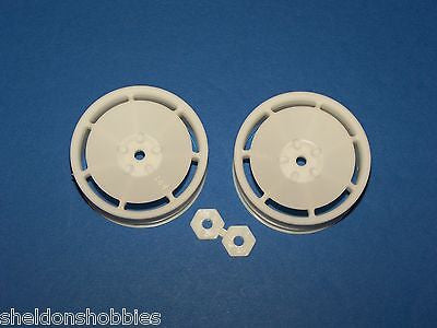 HPI (TOURING CAR) SUPER DISH WHEELS NARROW 20MM WHITE (2 PCS) #3680