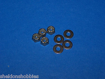 PRATHER STAINLESS STEEL NUTS & WASHERS 4-40 (8) #4088