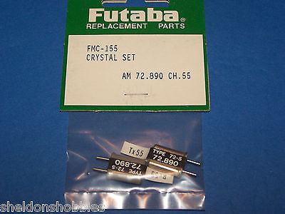 FUTABA (AM 72.890) CRYSTAL SET (RX/TX) CHANNEL 55 #FMC-155