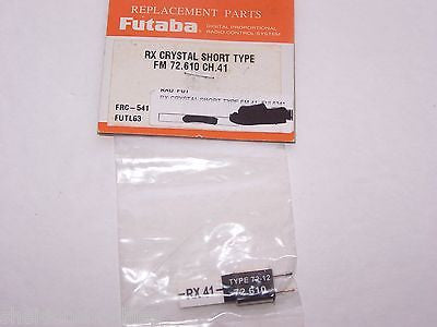 FUTABA CRYSTAL SHORT TYPE (FM 72.610) D/C RX CHANNEL 41 #FRC-541