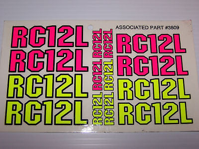 TEAM ASSOCIATED RC12L DECAL #3809