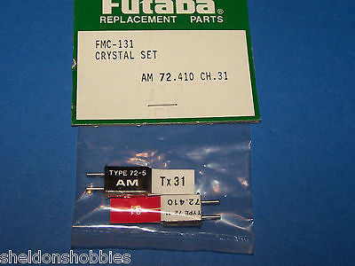 FUTABA CRYSTAL SET (AM 72.410) TX/RX CHANNEL 31 #FMC-131