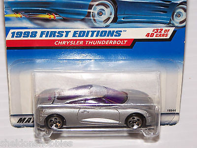 HOT WHEELS 1998 FIRST EDITIONS CHRYSLER THUNDERBOLT #671