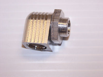 "MACS 4-CYC EXHAUST SYS (14MM  X  .75 PITCH) 90° MOTOR ADAPTER 3/8"" ID FLEX #1675"
