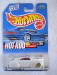 HOTWHEELS 1999 HOT ROD MAGAZINE TAIL DRAGGER #3 WHITE/BLK ORANGE FLAME GBBS MOC