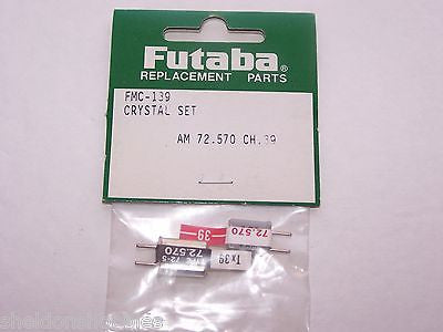 FUTABA CRYSTAL SET (AM 72.570) TX/RX CHANNEL 39 #FMC-139
