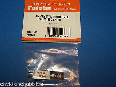 FUTABA (FM 75.950) RX CRYSTAL SHORT TYPE CHANNEL 88 #FRC-588