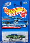 Olds 442 Metal Flake Green # 012 Hot Wheels 2000 Seein 3-D Series 1:64 New