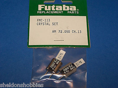 FUTABA CRYSTAL SET (AM 72.050) TX/RX CHANNEL13 #FMC-113