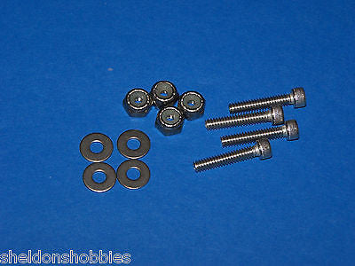 "PRATHER STAINLESS STEEL SOCKET CAP BOLTS/ NUT/WASHERS 6-32 X 3/4"" (12) #PRA4091"