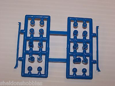 OKAMI PLASTIC SIDE PLATE & SPACER SET (BLUE) #138B