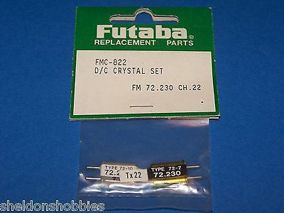 FUTABA D/C CRYSTAL SET (FM 72.230) CHANNEL 22 #FMC-822