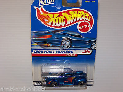 HOT WHEELS 1998 FIRST EDITIONS 1940 FORD #654