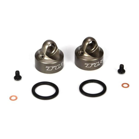 Bleeder Shock Caps Alum (2): 22/22T/22-4 (TLR5065)