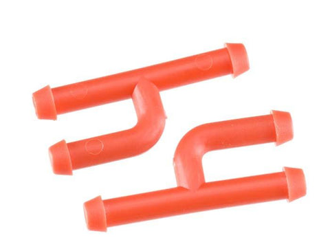 Dubro In-Line Fuel Connector w/Plug Red (2)