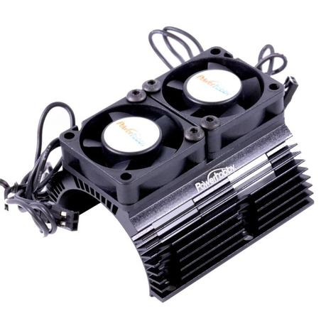 Power Hobby - Power Hobby Heat Sink w/ Twin Tornado High Speed Fans, for 1/8 Motors, Black