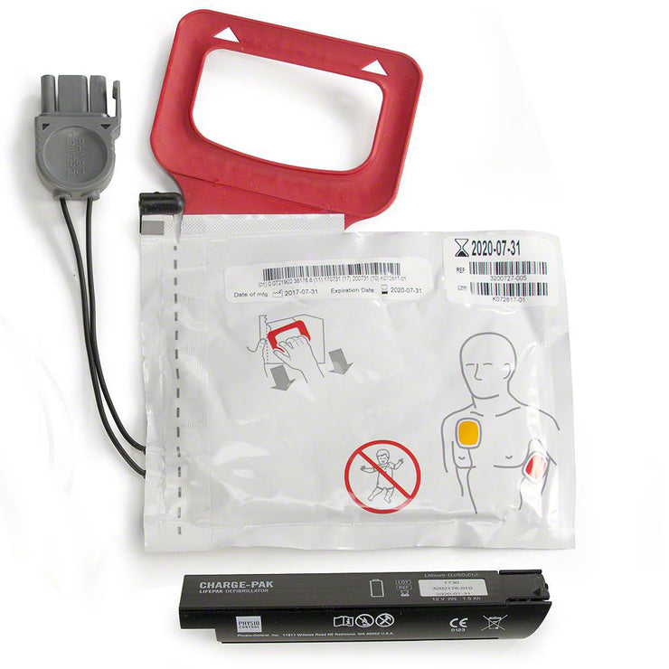 LIFEPAK CR Plus Charge Pak with 1 x Set of Adult Defib Pads