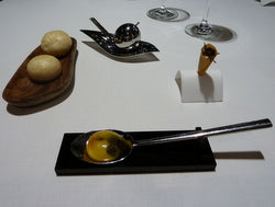 Yolk cooked inside out with truffles