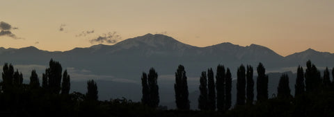 Sunset over the Andes