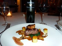 Springbok with Thelema cabernet