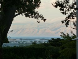 View across False Bay from Steenberg