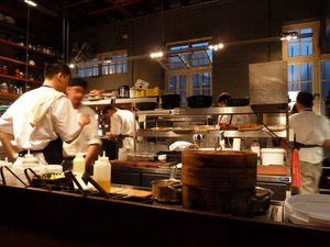 Test Kitchen action from the best seat in the house
