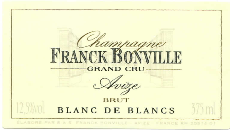 Grower Champagne - Franck Bonville NV Grand cru Blanc de Blancs Brut 375ml