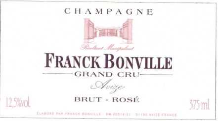 Grower Champagne - Franck Bonville NV Cuvée Rosé Grand cru 375ml