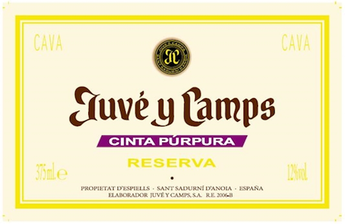 Juve Y Camps NV Cinta Purpura Reserva Cava 375ml