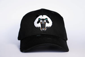 Mesh. Panda Embroiered Baseball Cap. BLACK