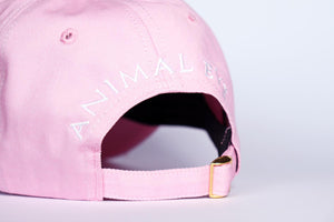 Classic. Panda Embroiered Baseball Cap. PINK