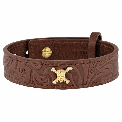 S.T. Dupont Pirates of the Caribbean Brown Leather Bracelet 003201PC 3597390234650