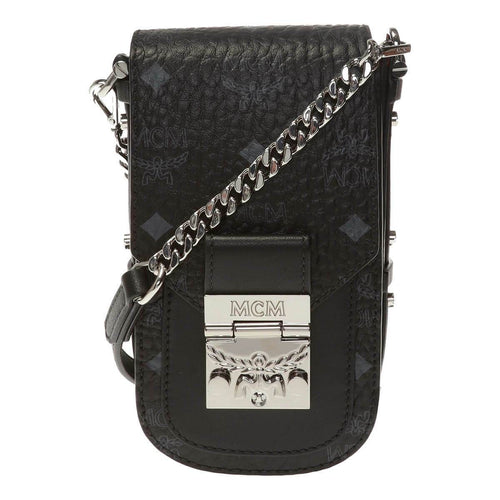 MCM Patricia Mini Black in Visetos Leather Shoulder Bag MCM MWRASPA04BK 8809630688464