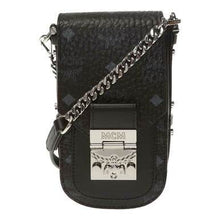 Load image into Gallery viewer, MCM Patricia Mini Black in Visetos Leather Shoulder Bag