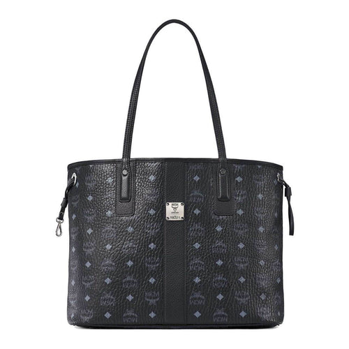 MCM Reversible Liz Shopper Black in Visetos Leather Bag MCM MWPAAVI01BK