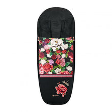 Load image into Gallery viewer, CYBEX Spring Blossom Platinum Footmuff – Black 519004027 4058511729688