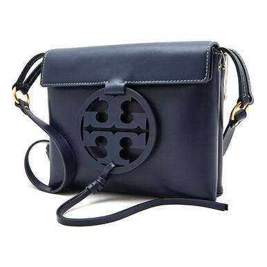 Tory Burch Miller Royal Navy Leather Crossbody Bag