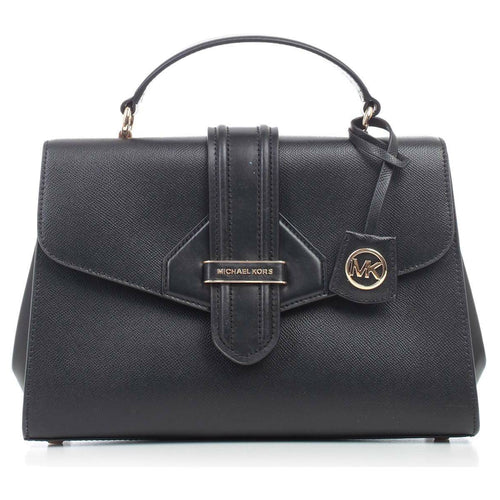 Michael Kors Bleeker Satchel Crossbody Black Leather Bag 30F9G0BS2L-001 193599028583