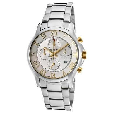 Bulova 98B175 Stainless Steel Silver Dial Men's Chronograph Watch