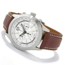 Load image into Gallery viewer, Swiss Tradition Men's Tritium Lumi-Tech Chronograph Brown Leather Strap Watch