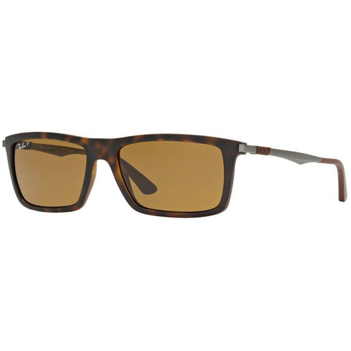 Ray-Ban RB4214 609283 Brown Classic B-15 Polarized Lens Matte Havana Sunglasses