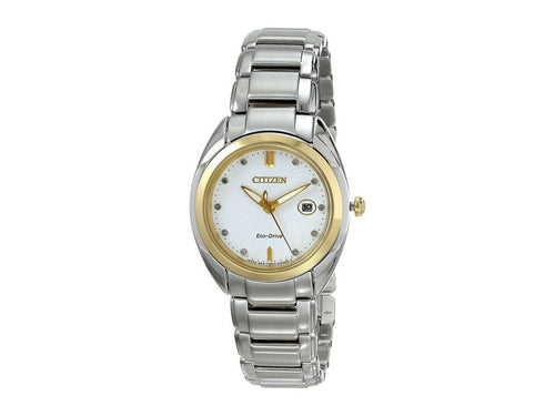 Citizen EM0314-51A Celestial Two Tone White Dial Women's Diamond Watch 013205107344