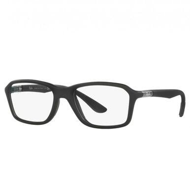 Ray-Ban RB8952 5605 Black Grey Full Rim Rectangular Nylon Eyeglasses Frames