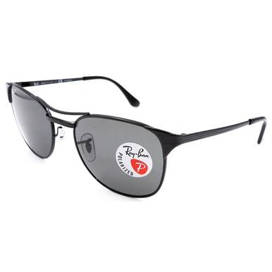 Ray-Ban RB3429-002/58 Signet Black Metal Frame and Grey Polarized Lens Sunglasses