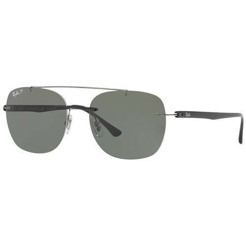 Ray-Ban RB4280-601/9A Liteforce Black Aviator Green Classic G-15 Polarized Lens Sunglasses 8053672742985